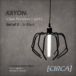 [CIRCA] - _KRYON_ - Claw Pendant Light Set - Black